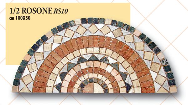 1/2 Rosone RS10 cm 100 x 50