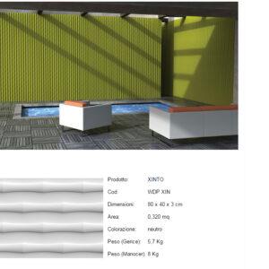 Pannelli decorativi 3D Xinto