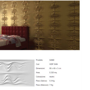 Pannelli decorativi 3D Sand