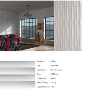 Pannelli decorativi 3D Unda