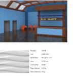 Pannelli decorativi 3D Wave
