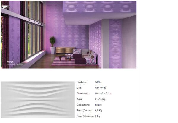 Pannelli decorativi 3D Wind