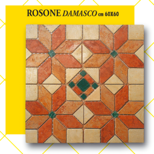 Rosone Damasco cm 60 x 60